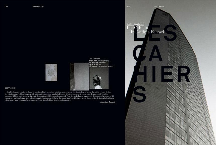 2010 / Tacchini Cahier