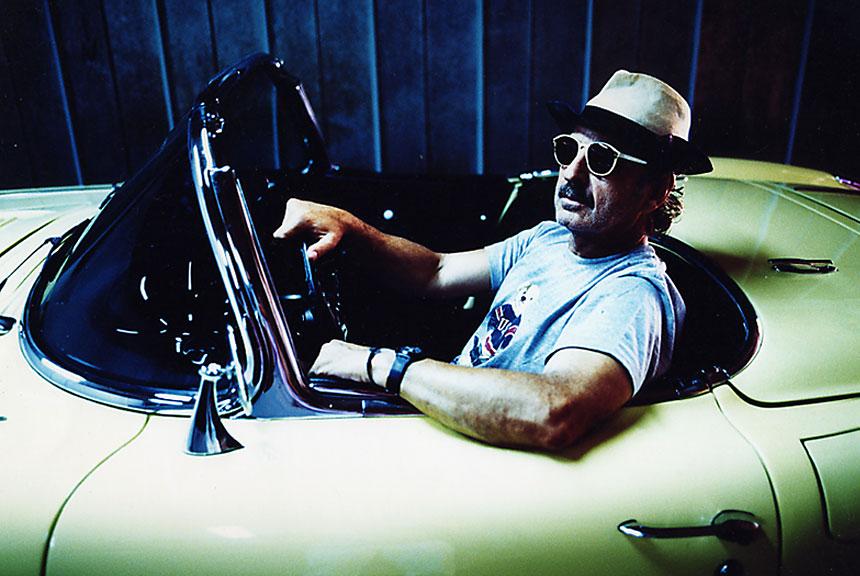 Art collector & his Corvette